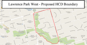 Lawrence-park-west-hcd map